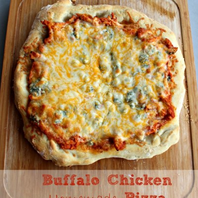 Buffalo Chicken Pizza – Easy and From Scratch Versions!