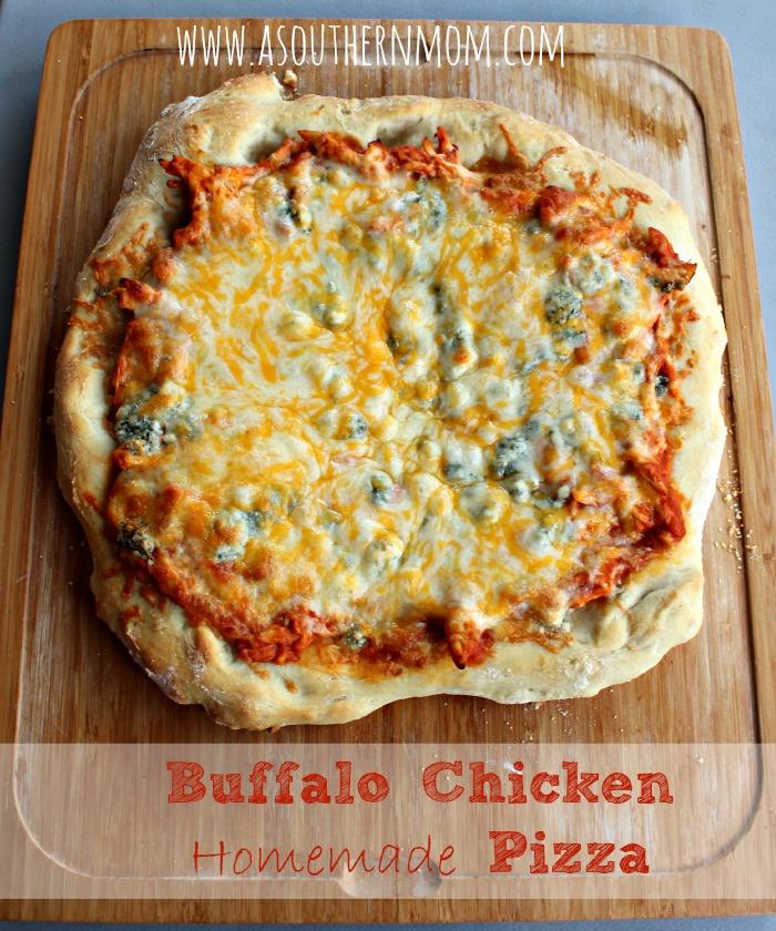 Buffalo Chicken Homemade pizza