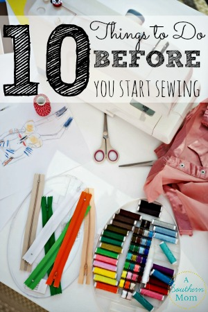 before you start sewing sidebar