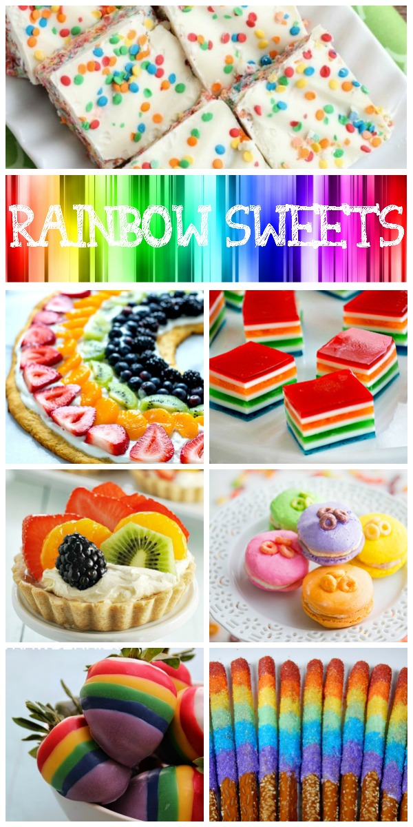 12 Rainbow Sweets Collage