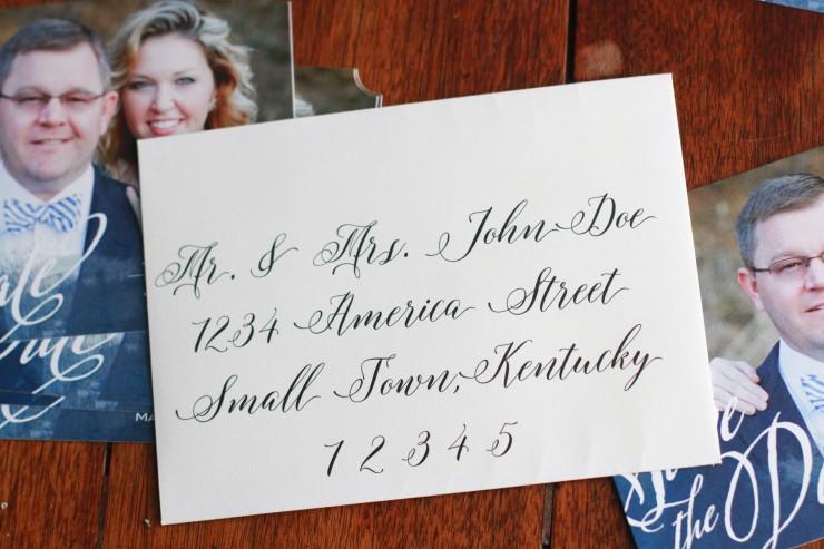 diy wedding calligraphy