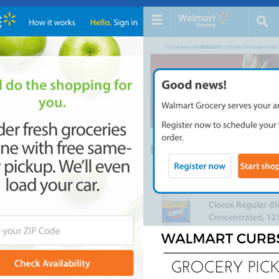 Saving Time With Walmart Curbside Grocery Pickup