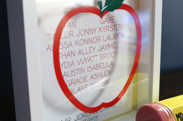 apple shadow box