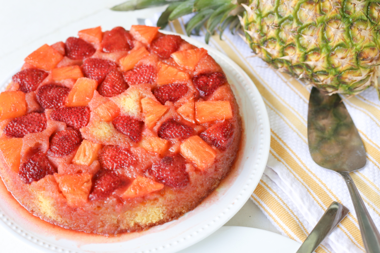 strawberry pineapple upside down cake