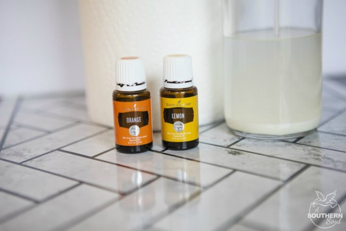 streak free glass cleaner with essential oils