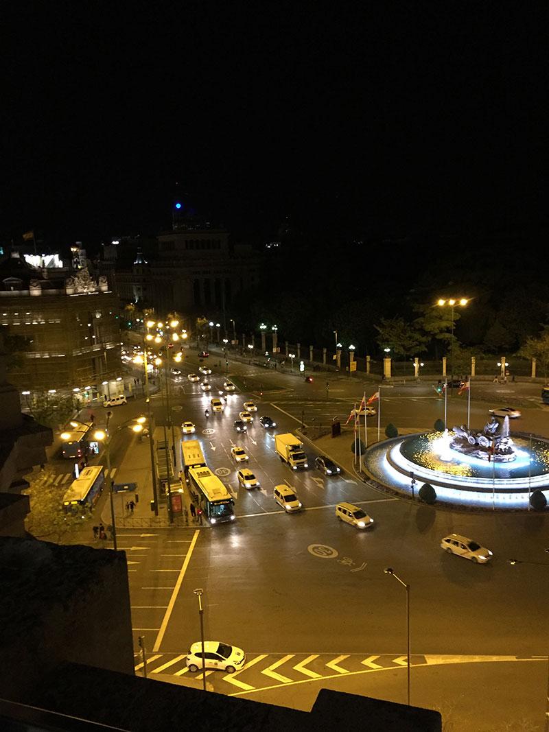 avorare a Madrid - Plaza de las Cibeles by night