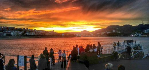 Lavorare a San Sebastián - tramonto - aspassoperlaspagna.it
