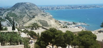 Vista dal Castello di Santa Barbara - aprire un'attività ad Alicante - aspassoperlaspagna.it
