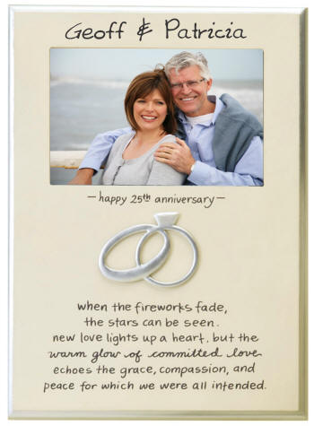 Personalized 25th Wedding Anniversary Frame