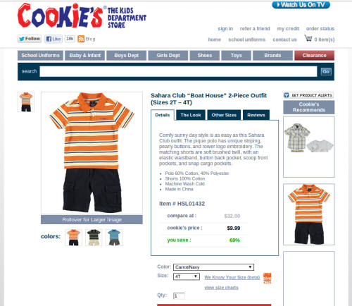 #CookiesKidsCookiesKids.com Boys Shorts Sets