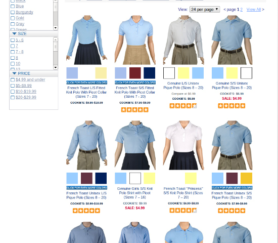 School Uniforms CookiesKids.com #CookiesKids