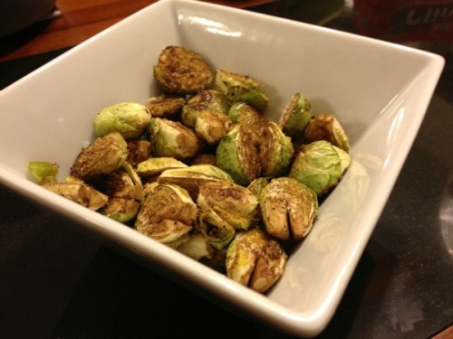 Baked Parmesan Brussels Sprouts