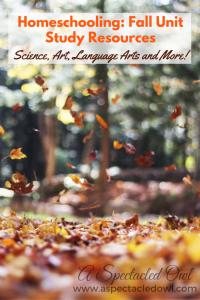 Homeschool: Fall Unit Study