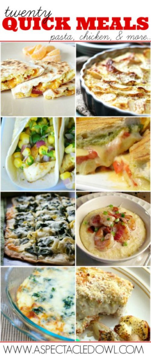 Twenty Quick Meals Pasta, Chicken and More