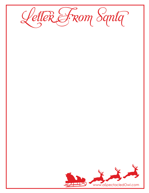 graphic about Santa Printable identify Letter In opposition to Santa Xmas Printable - A Spectacled Owl