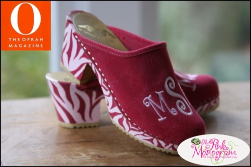 The+Pink+Monogram+High+Heel+Monogrammed+Clogs-+Create+your+own+pair+of+shoes!
