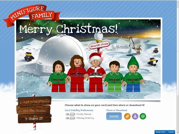 LEGO Minifigure holiday card