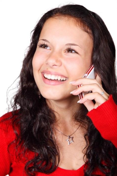 GirlonCellPhone