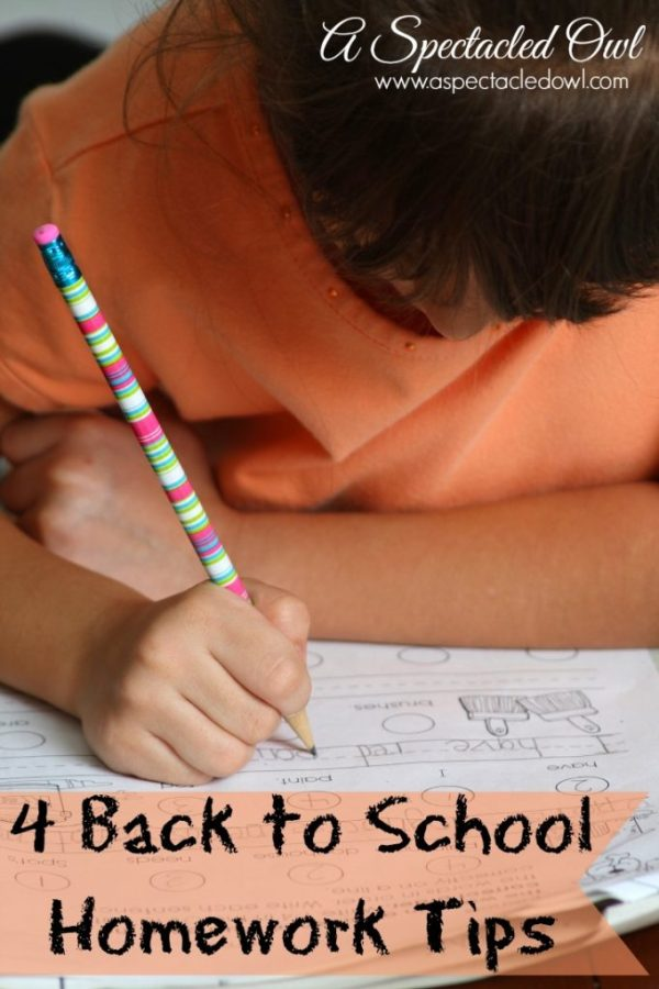 Back to School Homework Tips
