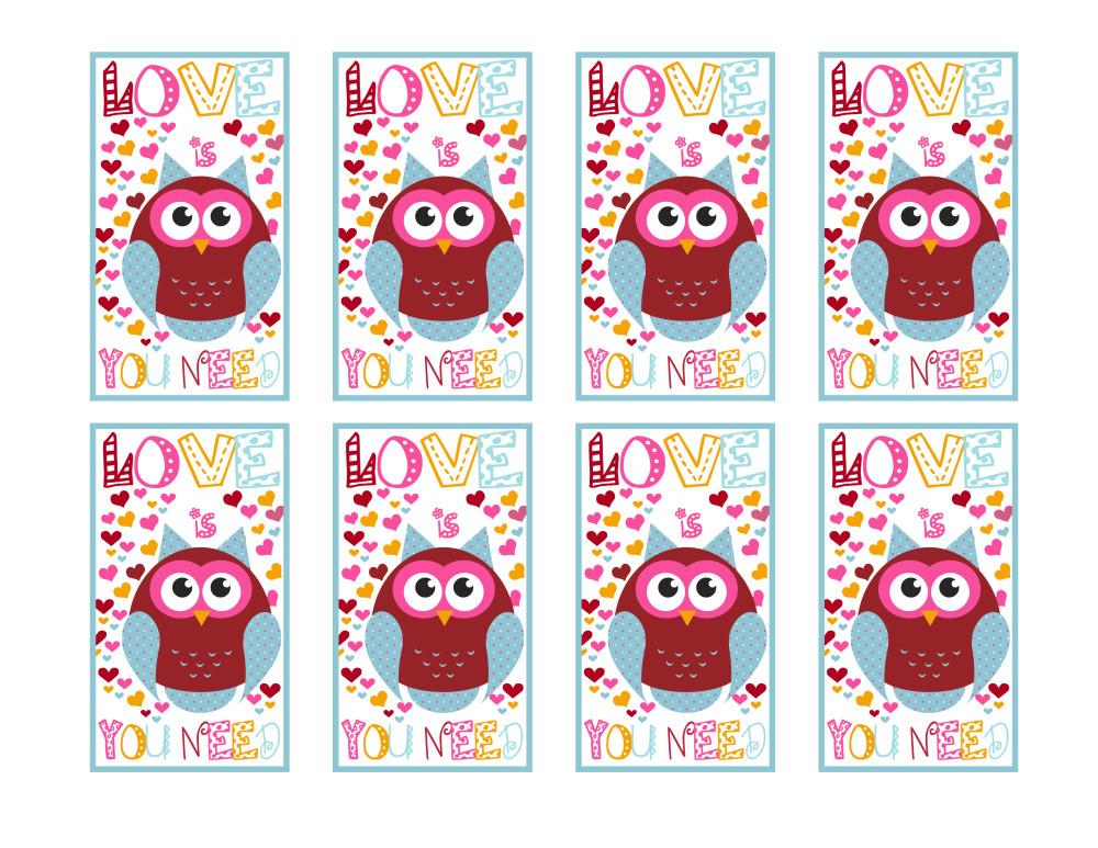 Love is Owl You Need Printable Sheet