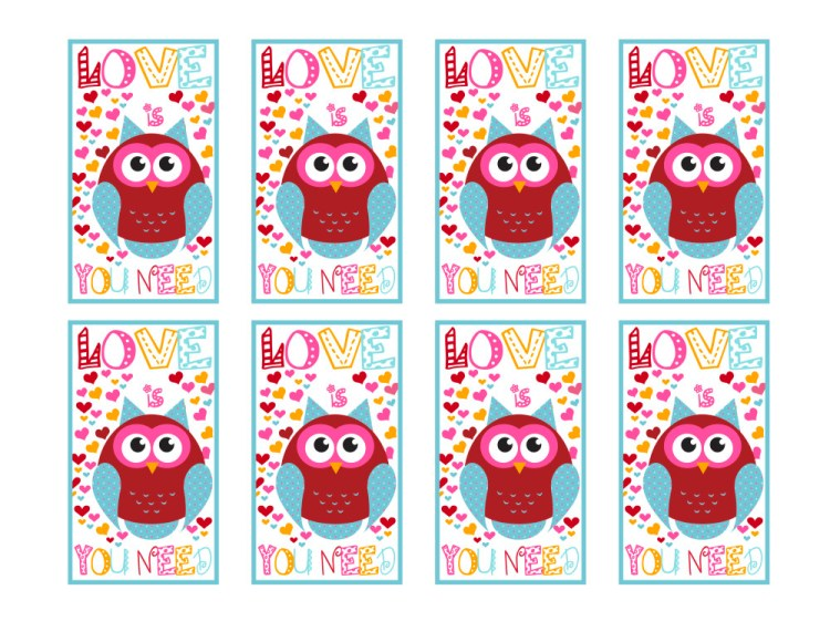 Love is Owl You Need Printable Sheet