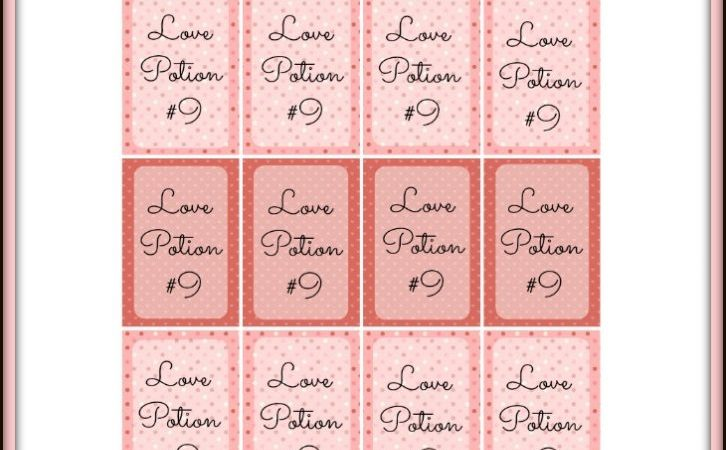 Love Potion #9 Valentine's Day Craft and Printable