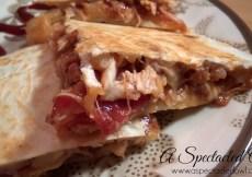 Bacon Pineapple BBQ Chicken Quesadillas #FosterFarmsFresh