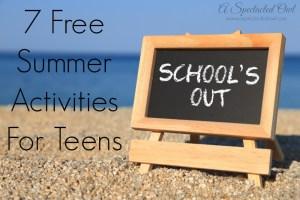 7 Free Summer Activities For Teens