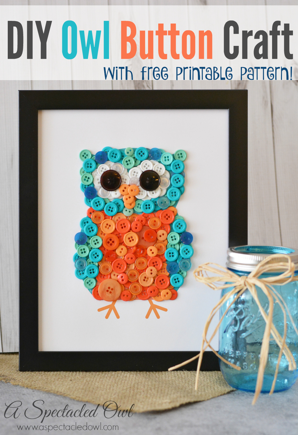 Diy Owl Button Craft A Spectacled Owl