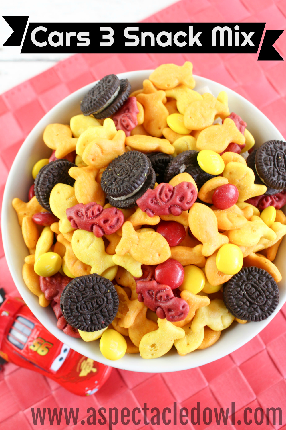 Cars 3 Snack Mix - A perfect snack to enjoy while you watch the movie!