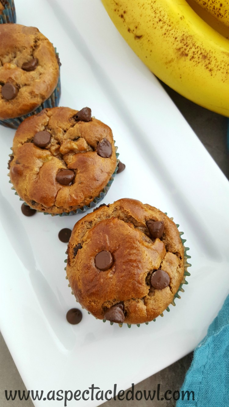 Delicious Banana Chocolate Chip Muffins that are simple to make (for kids and adults) and are Paleo Friendly!