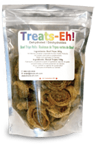 Dehydrated all meat dog treats
