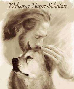 Jesus kissing Schatzie girl