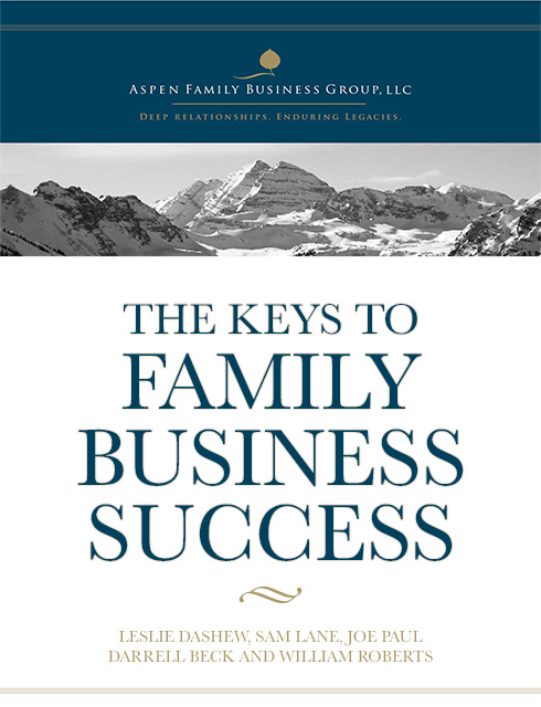 The Keys To Family Business Success Cover