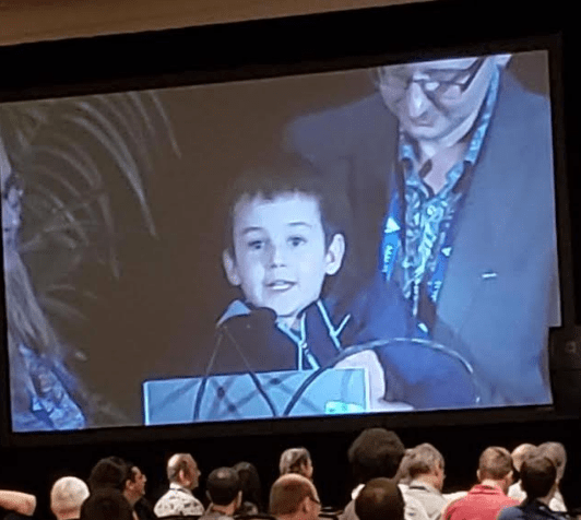 Kindergarten Student Addresses Artificial Intelligence (AI) Conference