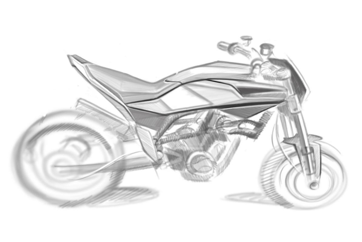 Husqvarna 900cc Street Bike In Sketches
