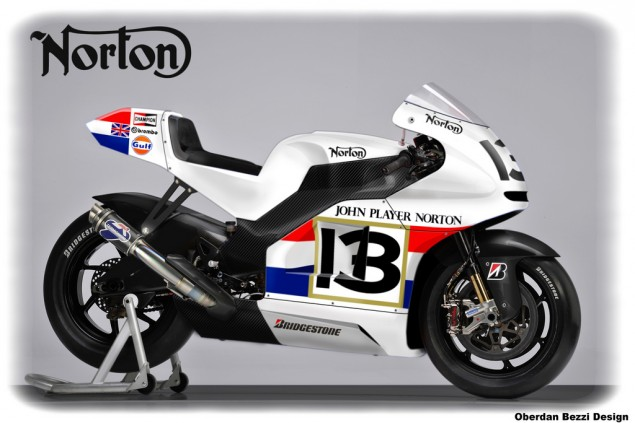 Norton MotoGP Racer Imagined by Oberdan Bezzi - Asphalt & Rubber