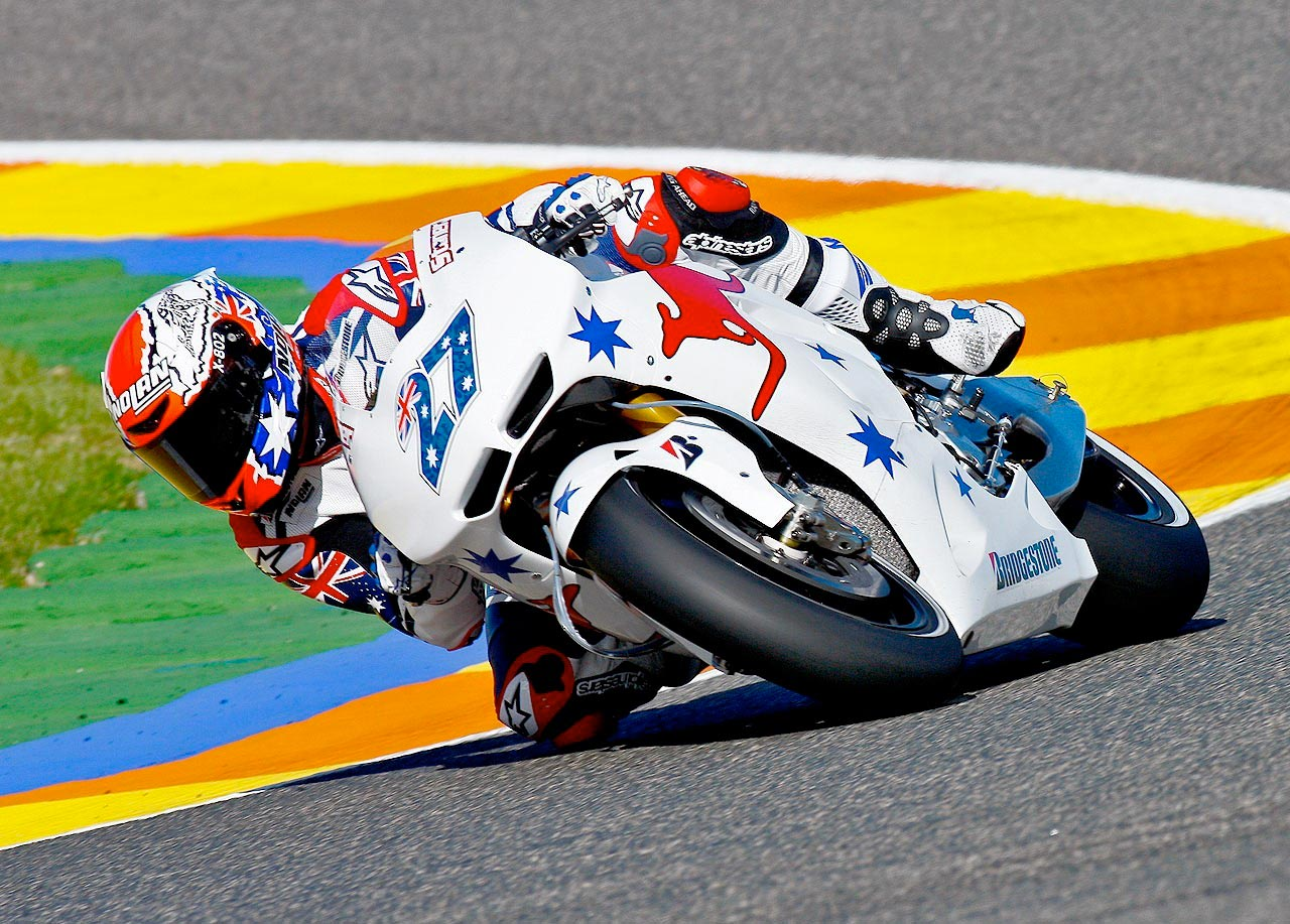 Australian Casey Stoner Topped The Time Sheets Today At Valencia