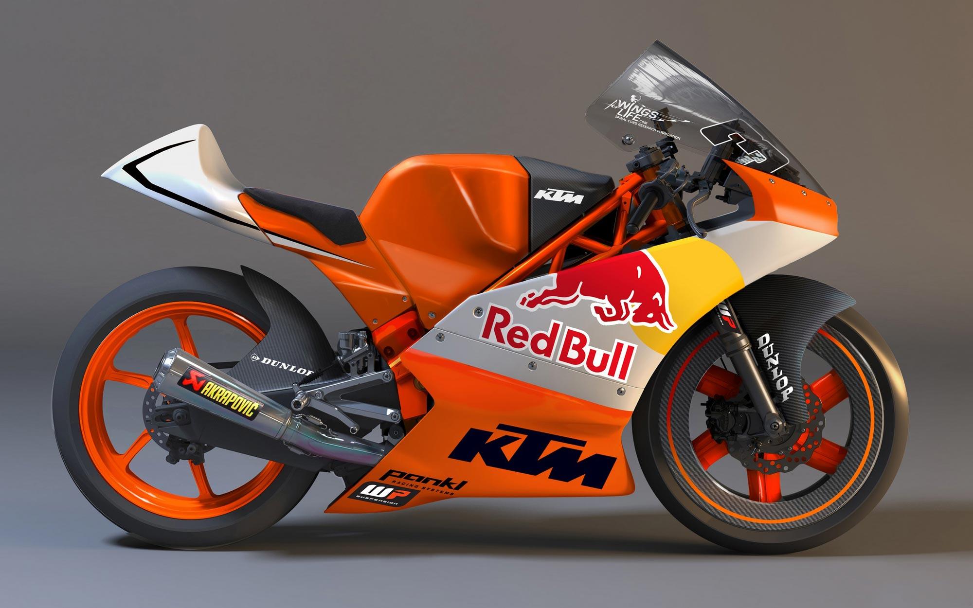 first look: ktm moto3 race bike - asphalt & rubber