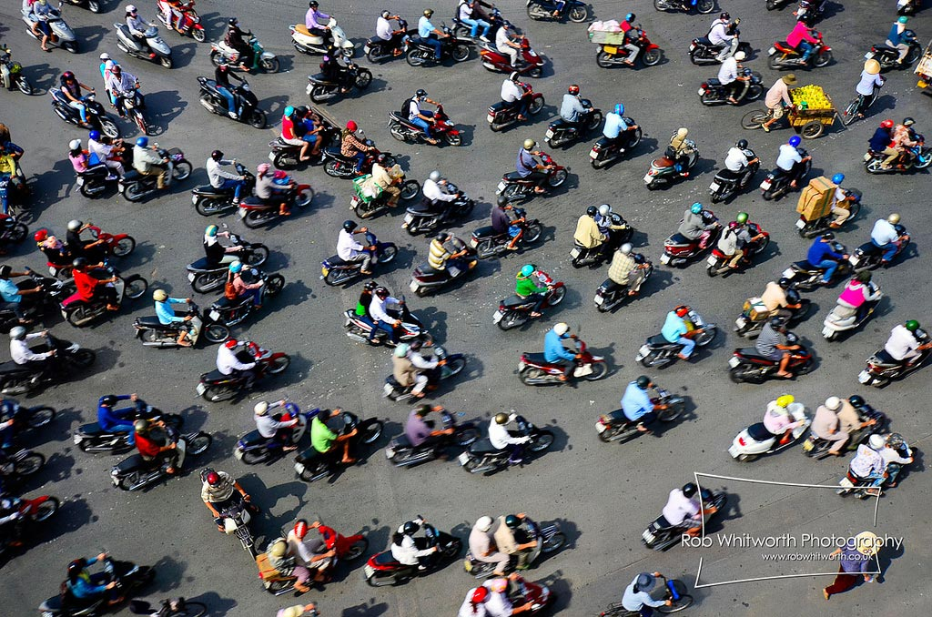Motorbike are popular in HCMC to say the least