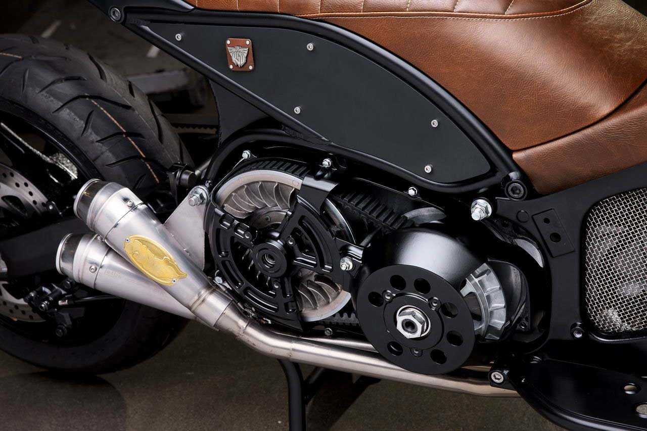 Roland Sands Hypermodifies the 2012 Yamaha Tmax 530