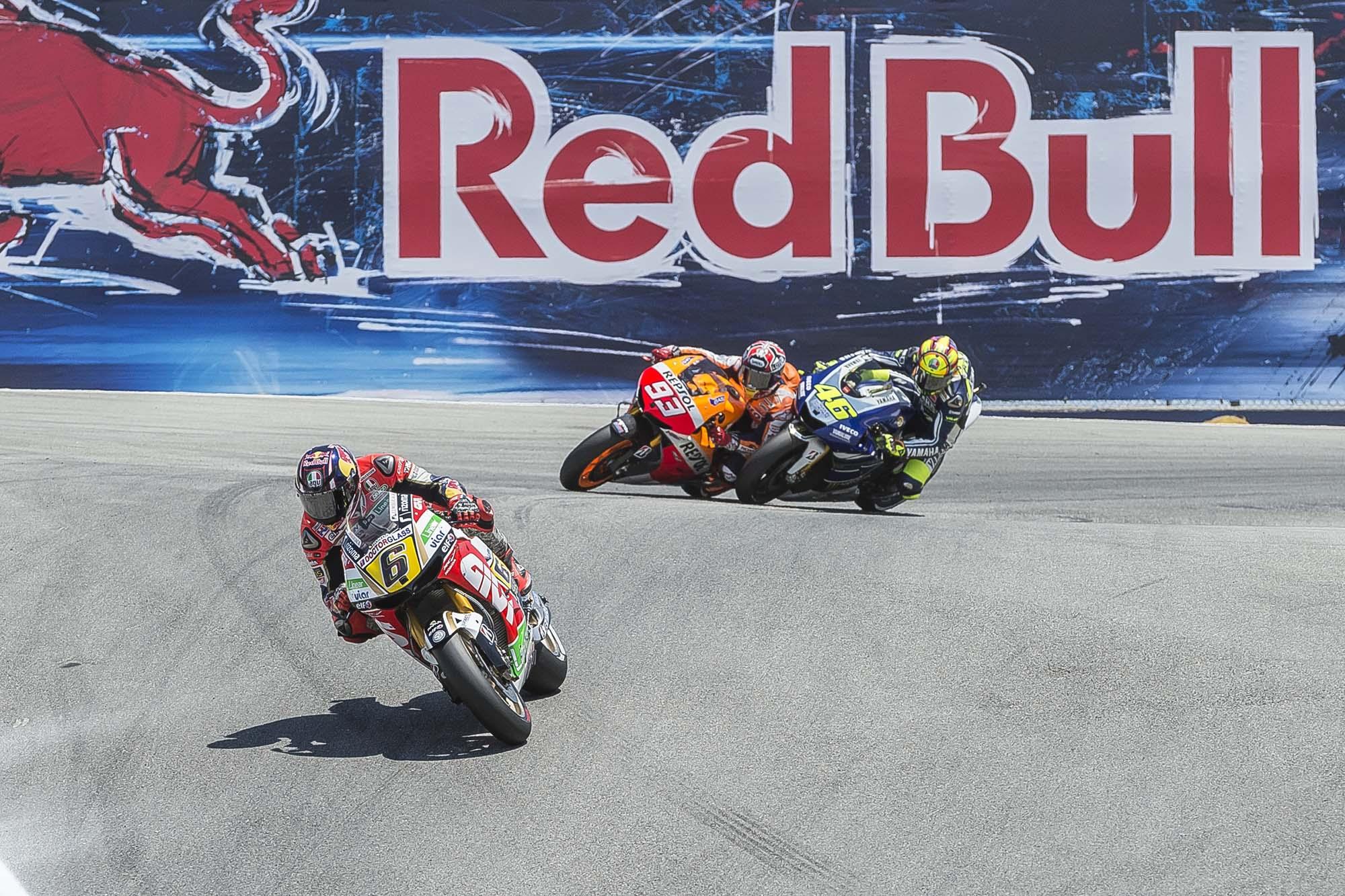 Photos: Marc Marquez Passing Valentino Rossi in The Corkscrew at Laguna Seca - Asphalt & Rubber