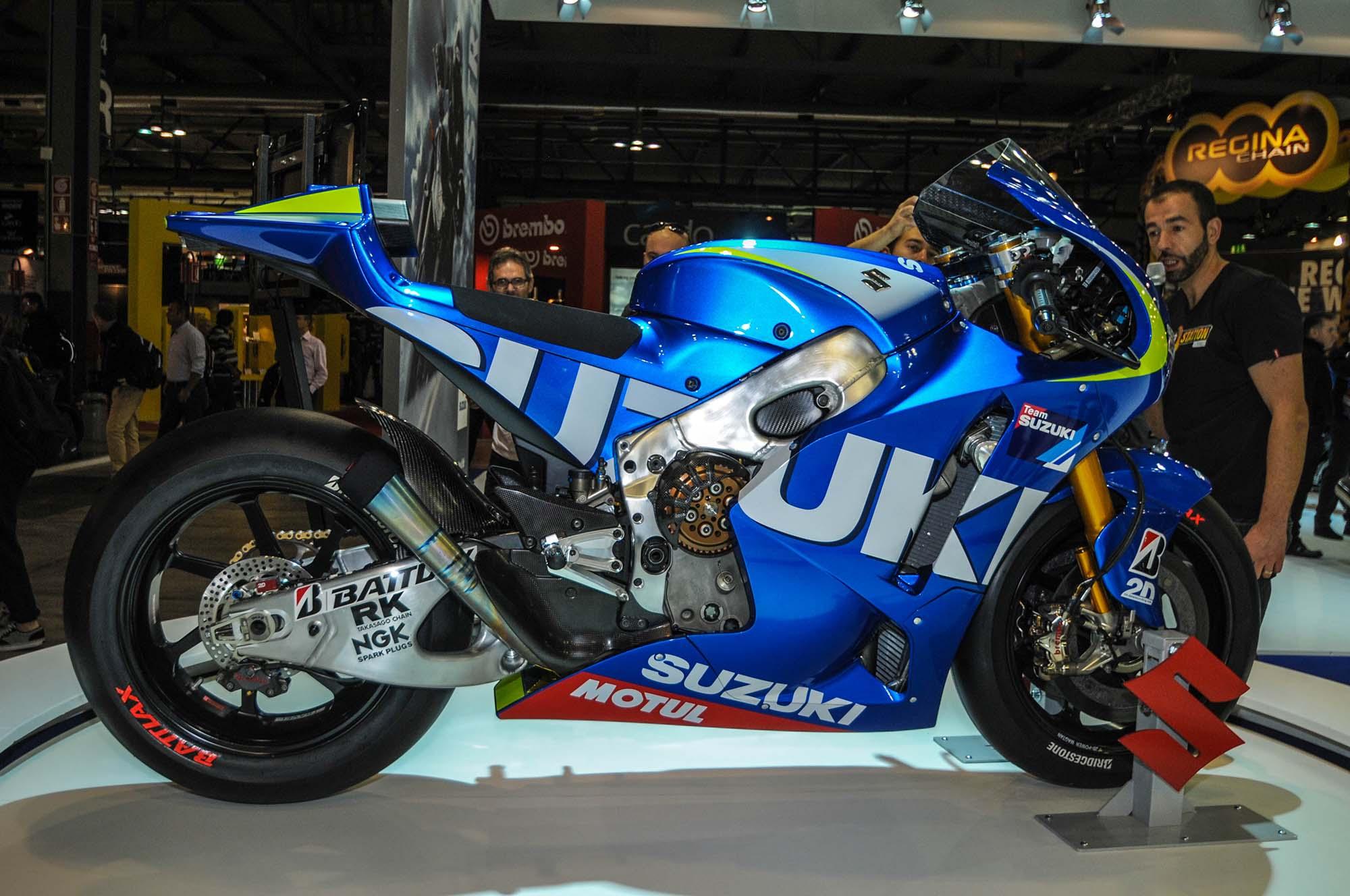 Up-Close with the Suzuki XRH-1 MotoGP Race Bike - Asphalt & Rubber