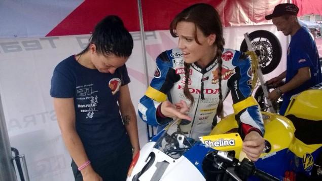 Shelina-Moreda-Melissa-Paris-Suzuka-4-Hour-broken-fairing