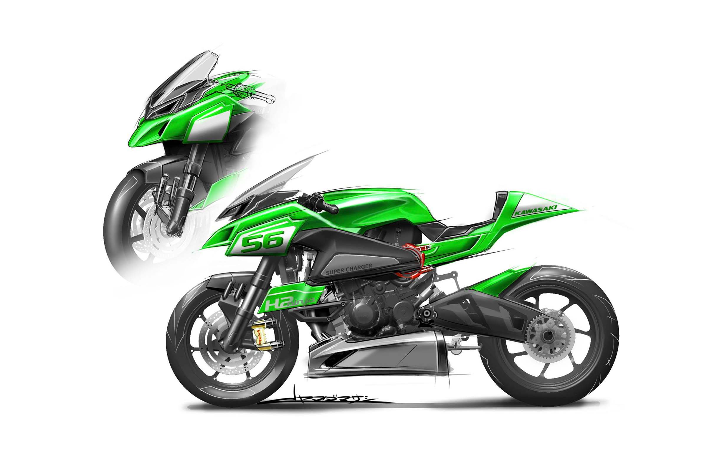 This Is What The Kawasaki Ninja H2 Could Have Looked Like