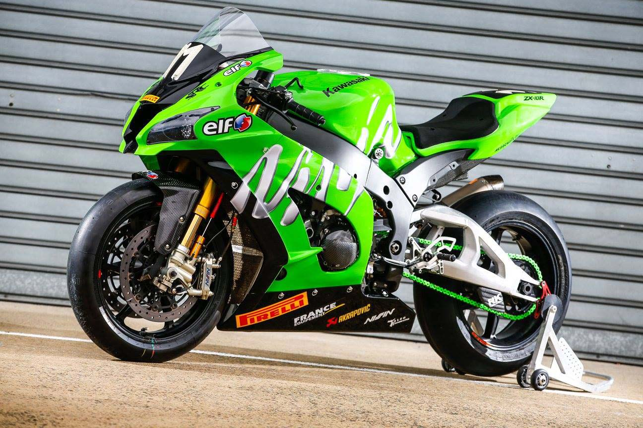 team kawasaki src ninja zx 10r world race bike