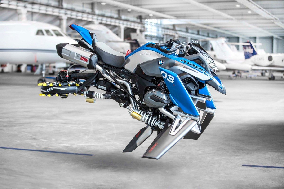 In the Future, You Will Fly on Your Motorcycle - But Today, You Can Only Build It Out of LEGOs