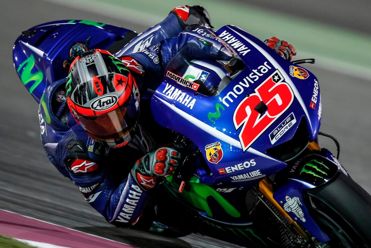 Thursday MotoGP Summary at Qatar: Rain, An Unbeatable Viñales, And Weird Aero