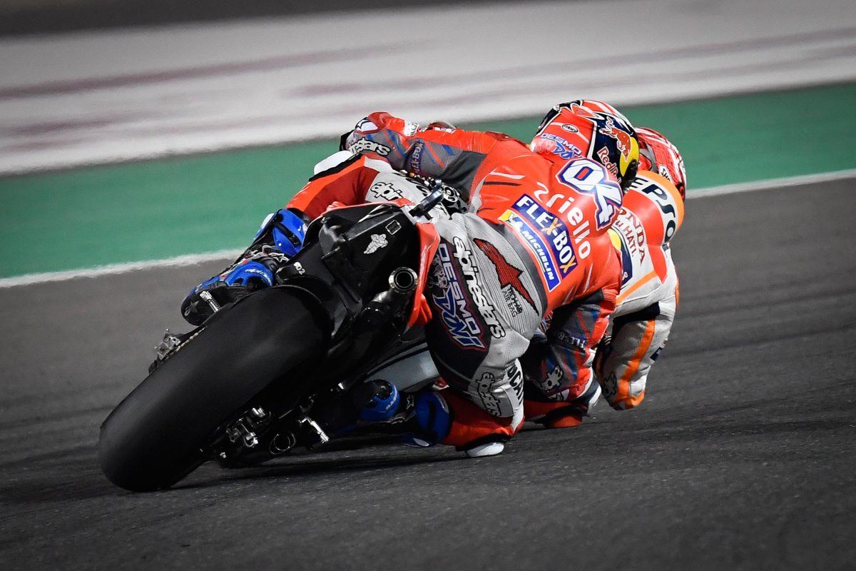 Dovizioso Fends Off Last-Corner Marquez at the Qatar GP