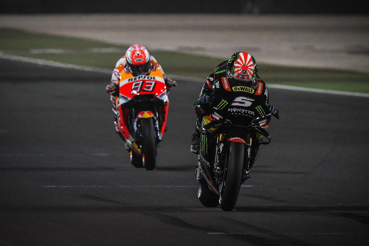 Johann Zarco Smashes Lap Record to Take Pole in Qatar
